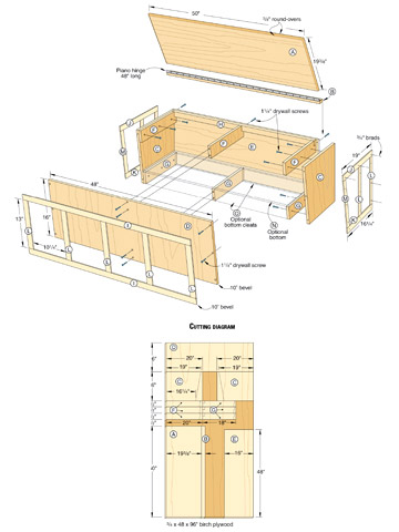 Window Seat Construction Woodworking Plans