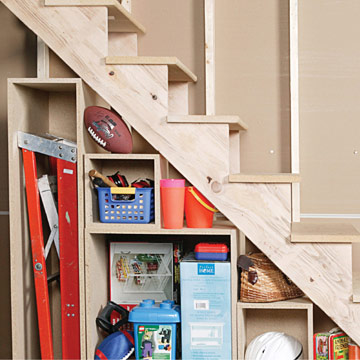how to build under stair basement storage shelves adding