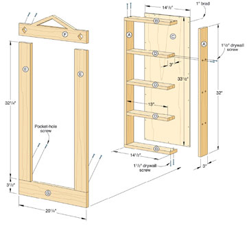 recessed shelf plans