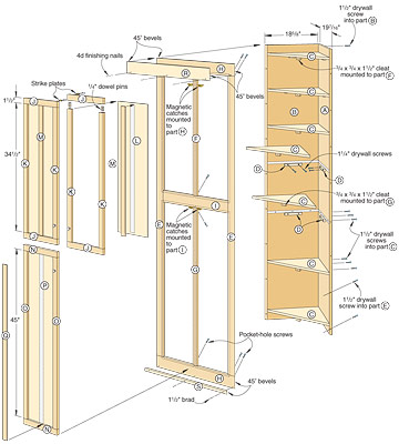 Linen Closet Building Plans