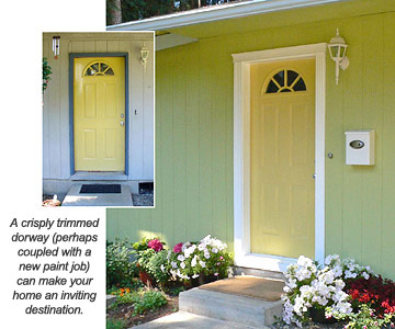 Sprucing Up An Entry Door With Trim How To Repair Any Door In Your House Diy Advice