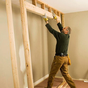 Framing for Closet Doors - How to Install House Doors. DIY ...