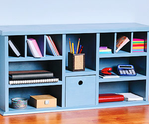 to Build Desk Hutch Shelves - Easy Shelf Projects - Built-ins, Shelves ...