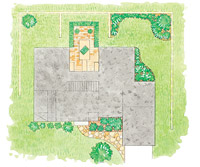 Courtyard patio layout