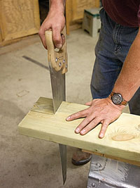 Notching the corner of a board