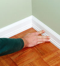 Finishing baseboards