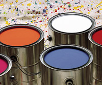 Paint colors/cans