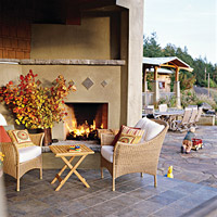 Fireplace outdoor living