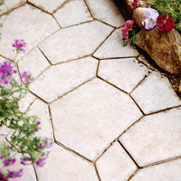 Stamped flagstone effect
