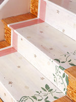 Floral painted stairs