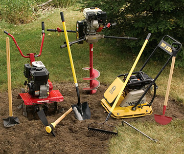 Image gallery excavation tools for Power garden digging tools