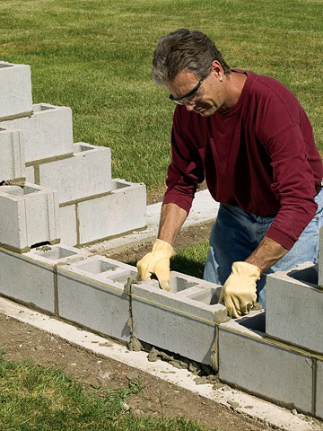Building a concrete block wall building masonry walls for Building a concrete block house