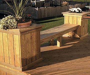 Deck Benches with Planter Boxes