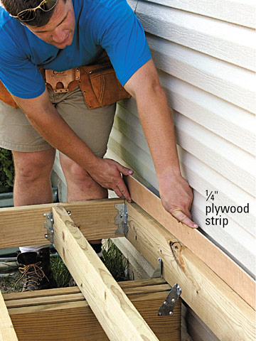 Building Angled Decking - Freestanding Decks - How to ...