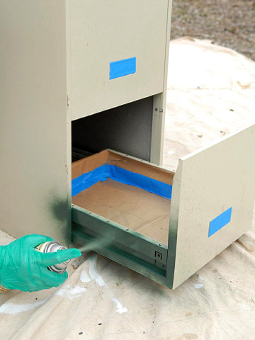 Painting iron and steel furniture and ornaments how to for How to paint metal file cabinet