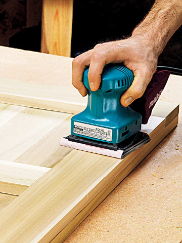 sanding and finishing wood