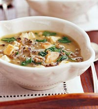 Spinach, Chicken, and Wild Rice Soup Recipe