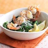 Garlic Shrimp on Spinach Recipe