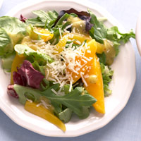 Salad Greens with Mango-Basil Vinaigrette