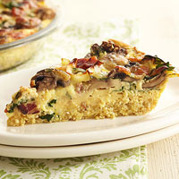 Hearty Vegetable, Bacon, and Quinoa Quiche