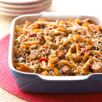 Baked Ratatouille-Sausage Penne | Diabetic Living Online