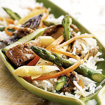 Beef And Asparagus Saute