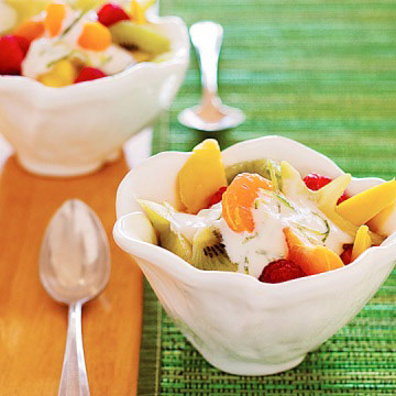 Fresh Fruit Salad with Creamy Lime Topping | Diabetic ...