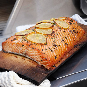 Cedar plank grilled salmon diabetic living online for Grilling fish on cedar plank