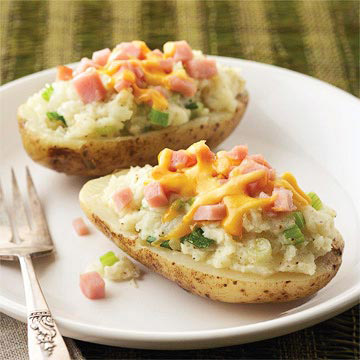 Double Cheese Potatoes With Ham Diabetic Living Online
