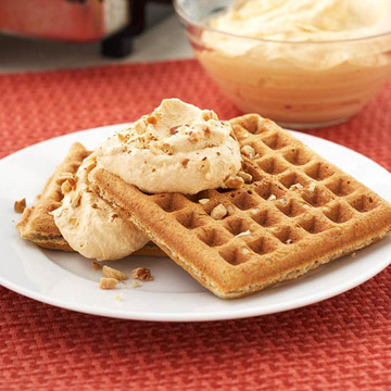 Spiced Waffles with Pumpkin Cream | Diabetic Living Online