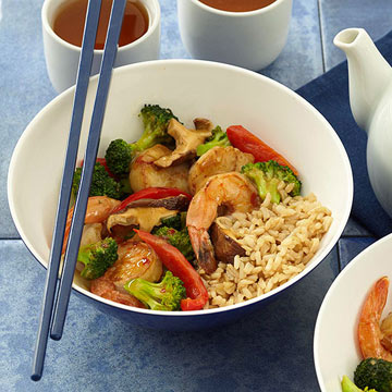 Shrimp and scallop vegetable stir fry diabetic living online shrimp and scallop vegetable stir fry forumfinder Image collections