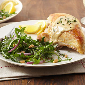 Chicken Breasts with Lemon Thyme Cream | Diabetic Living Online