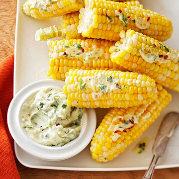 Corn on the Cob with Cilantro-Lime Butter | Diabetic Living Online
