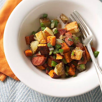 Sweet Potato and Turkey Sausage Hash | Diabetic Living Online