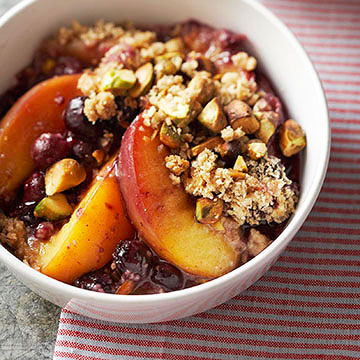 Nectarine Blueberry Crisp | Diabetic Living Online