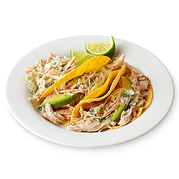 Fish Tacos with Spicy Cabbage Slaw | Diabetic Living Online