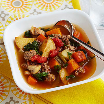 Beef and Roasted Vegetable Soup | Diabetic Living Online