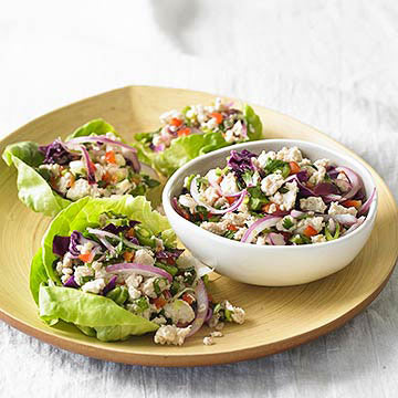 Spicy Thai Chicken Lettuce Cups | Diabetic Living Online