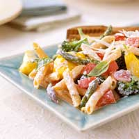Penne with Ricotta and Summer Vegetables | Diabetic Living Online