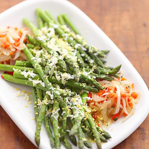 Asparagus with Red Peppers