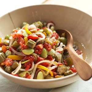 Baked Tomato and Okra