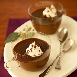 Chocolate-Amaretto Pots de Creme
