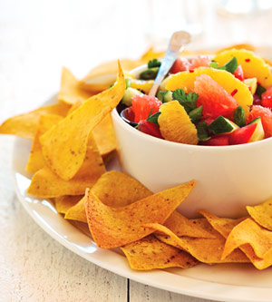 Citrus Salsa with Baked Chips | Diabetic Living Online
