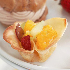 Crepe Cups with Ginger Fruit | Diabetic Living Online