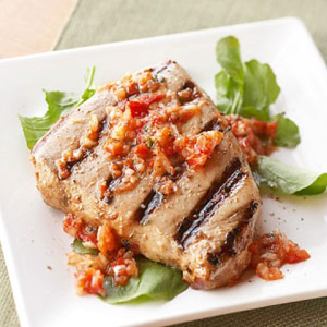 Grilled Fish with Garlic Marinade