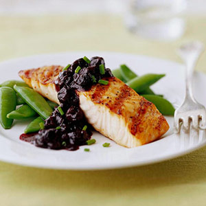 Grilled Salmon with Blueberry Sauce | Diabetic Living Online