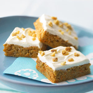Nutty Carrot Cake Bars