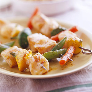 Spicy fish kabobs diabetic living online for Diabetic fish recipes