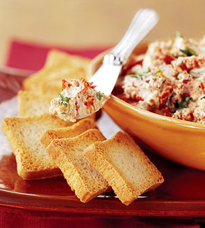 Tomato and Basil Chevre Spread