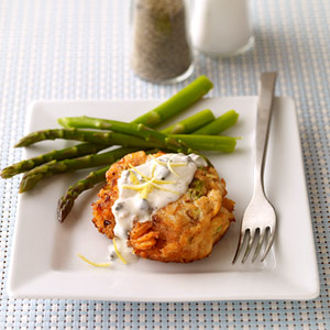 Salmon Cakes with Caper Mayonnaise | Diabetic Living Online